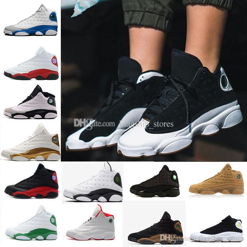 quality design 1ab67 eccd5 13 13s Men Basketball Shoes Hyper Royal Italy Blue Phantom Moon Particle  Chicago Bred DMP Wheat Olive Black Cat Men Sneakers US5.5-13