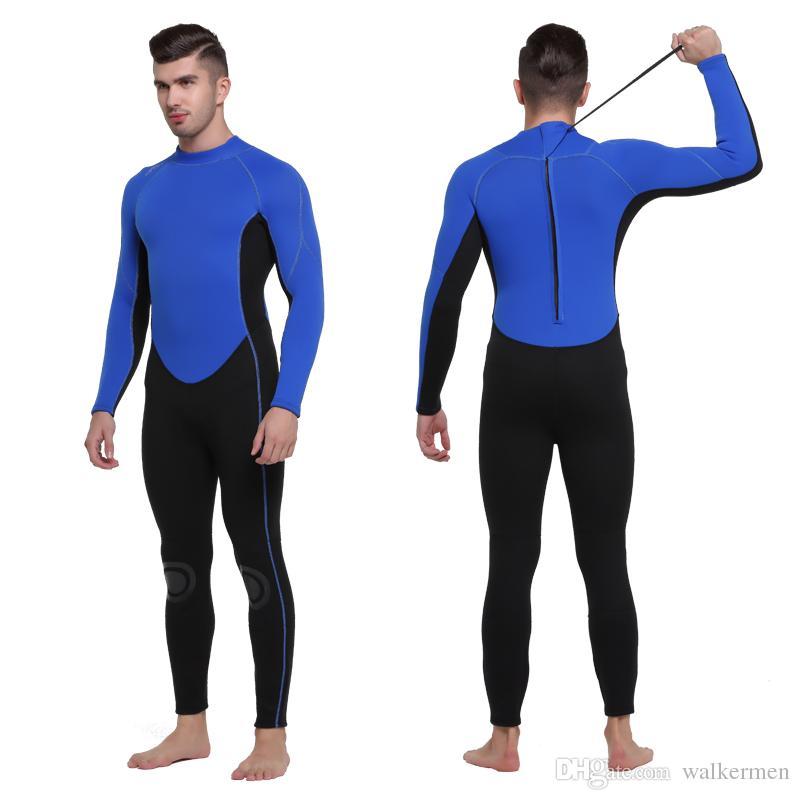 c71b22a78cac3 Compre Trajes De Neopreno De 3 Mm Profesional Trajes De Surf De Buceo De  Cuerpo Completo Para Hombres Snorkel Pesca Submarina Triatlón Traje Mojado  Envío De ...