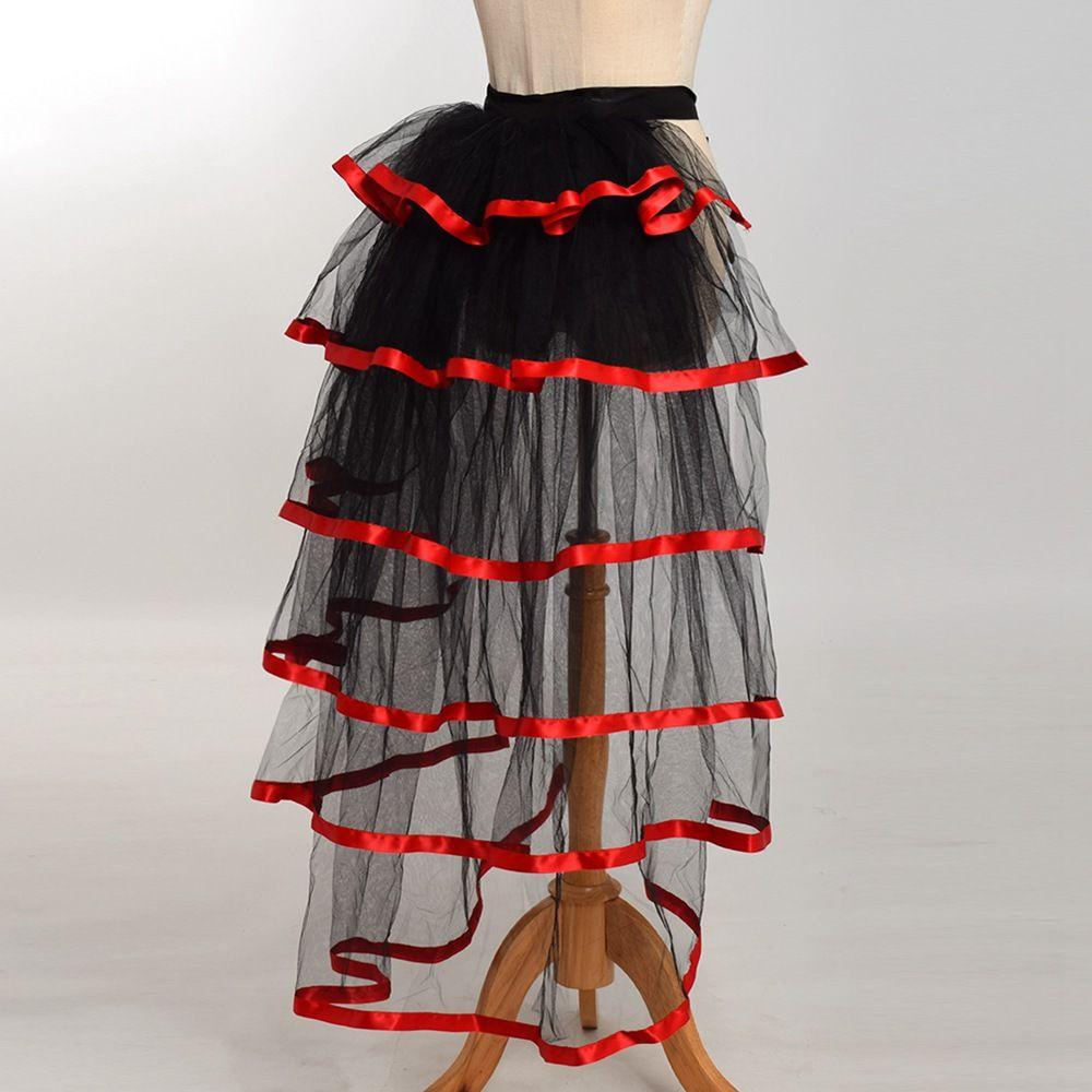 Women Victorian Steampunk Black Bustle Women Tutu Belt Lace Underskirt NEW High Qualitu Fast Shipment