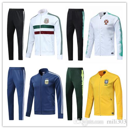f26a0f35f 2018 France World Cup Soccer Jacket Trainingsuit 18 19 Colombia Mexico  Portugal Argentina Brazil Mexico Football Jacket Sportswear Tracksuit UK 2019  From ...
