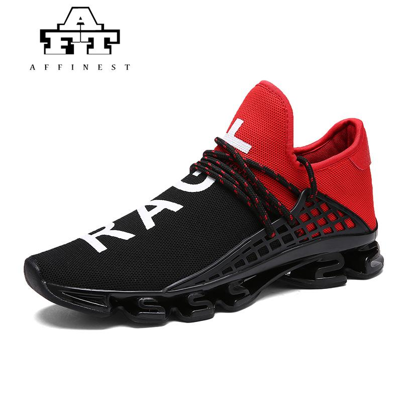 823ce37666 AFFINEST Unisex Men Women Running Shoes Jogging Air Mesh Sport Breathable  Sneakers Blade Lovers Shoes Men Trainers Plus Size 48