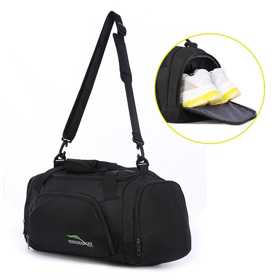 2fbf6ceb9875 2019 Gym Bag Men Shoes Separate Space Fitness Waterproof Outdoor Sport Bags  Travel Handbag Training Shoulder Duffle Bag Tactics Sac From Raisins