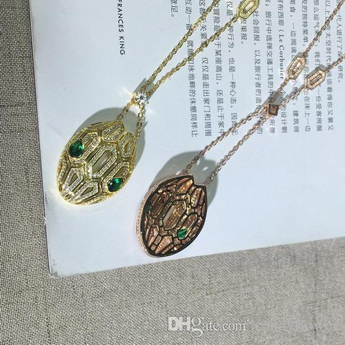 высокое качество новый полный CZ Алмаз проложили животных подвески ожерелья дизайнер 18K Роза / белый / желтый позолоченные партии ювелирных изделий для женщин