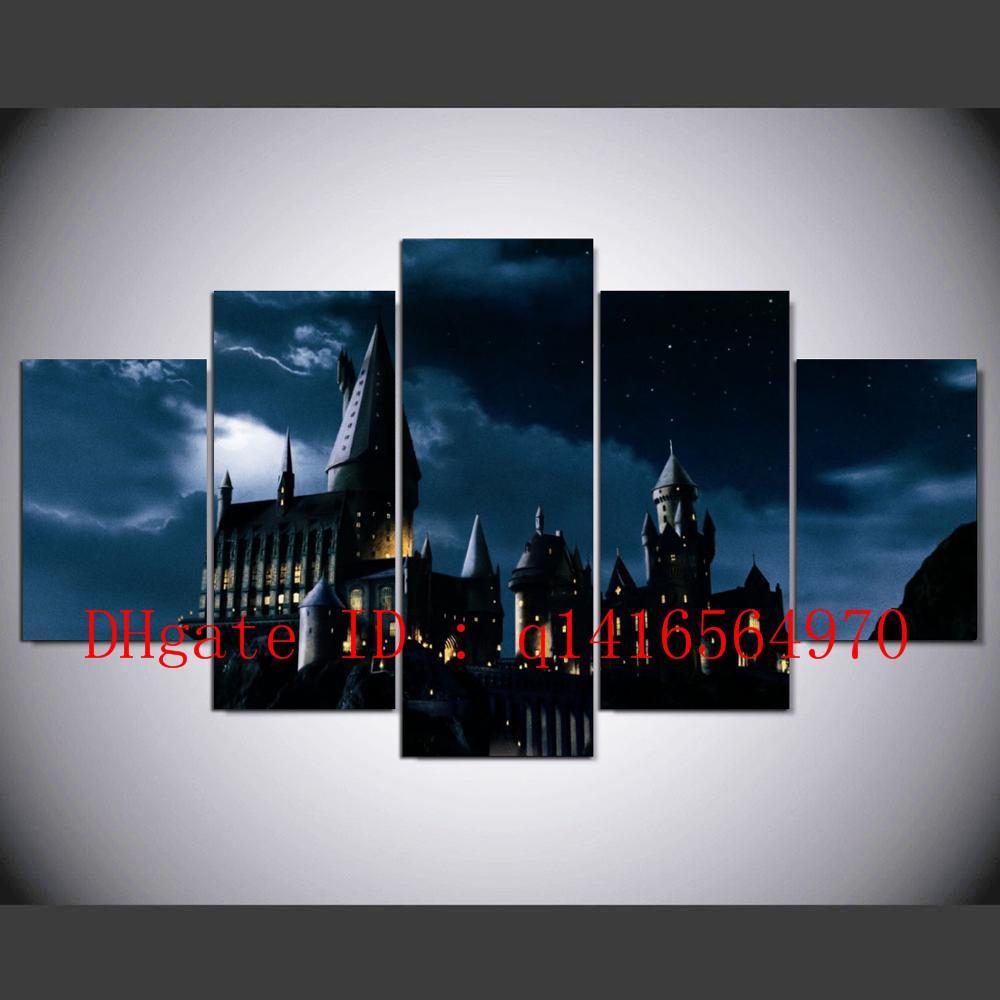 Compre Castillo Hogwarts Harry Potter, 5 Piezas Impresiones En ...