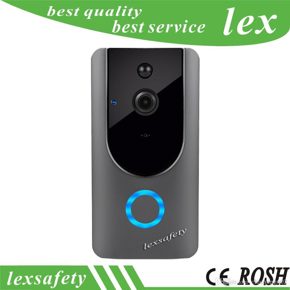 Door Intercom Dynamic Hd 720p Wifi Doorbell Camera Smart Wifi Video Door Bell Pir Camera Night Vision Two-way Audio Battery Doorbell Waterproof Cover