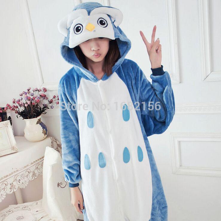 3642e5e6ba7 Compre Kigurumi Onesie Adulto Unisex Búho Animal Pijamas Ropa De Dormir  Cosplay Pijamas D18110502 A  34.94 Del Shen8403