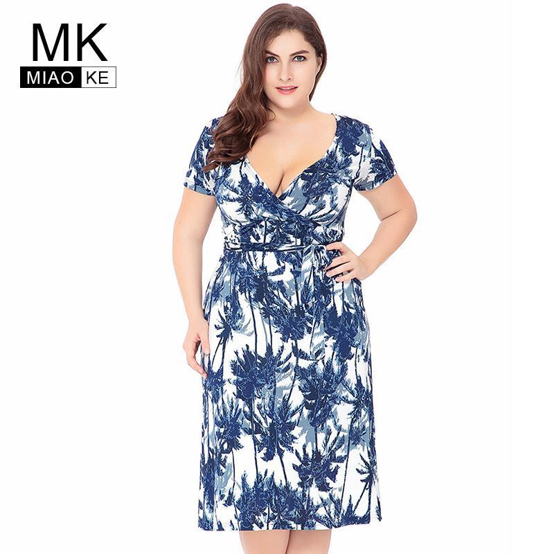 Plus Size Short Dresses for Large Waist