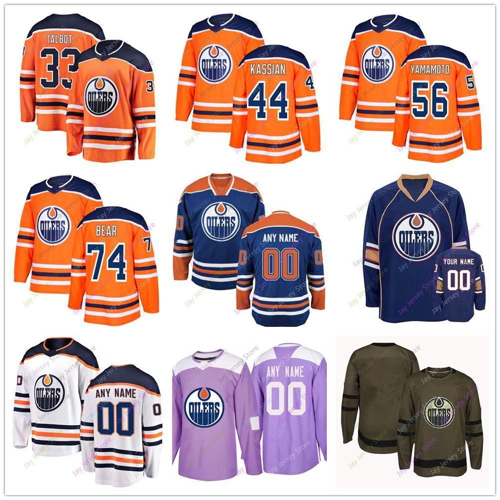 lowest price 6388e 9319f Edmonton Oilers Jersey Brandon Manning Ryan Spooner Alexander Petrovic Cam  Talbot Zack Kassian Kailer Yamamoto Ethan Bear Jersey