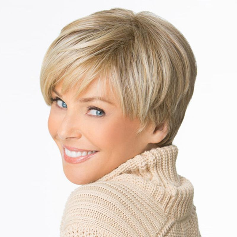 2018hot Sale Beautiful Boy Cut Short Wigs For Women Straight Style  Synthetic Blonde Wig With Bangs Sassy Lace Wigs Long Blonde Wigs From  Keerkeshangmao b76d5c59fbf3