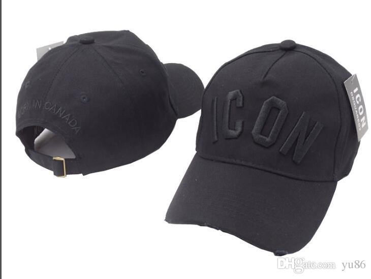 2018 New Black Icon Hat Cotton Baseball Cap Bone Brand Sport ... a68a95ecbdd5