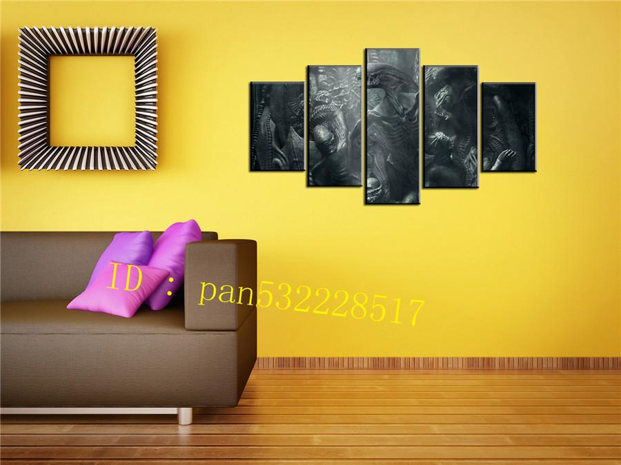 2018 Alien Canvas Prints Wall Art Oil Painting Home Decor /Unframed ...
