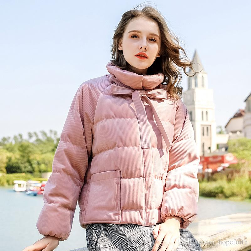 ff7e7e550 2018 Winter New Women's Down Short Coats S-XL Ladies Warm Thick Coat  Fashion Retro Pink Down Jacket