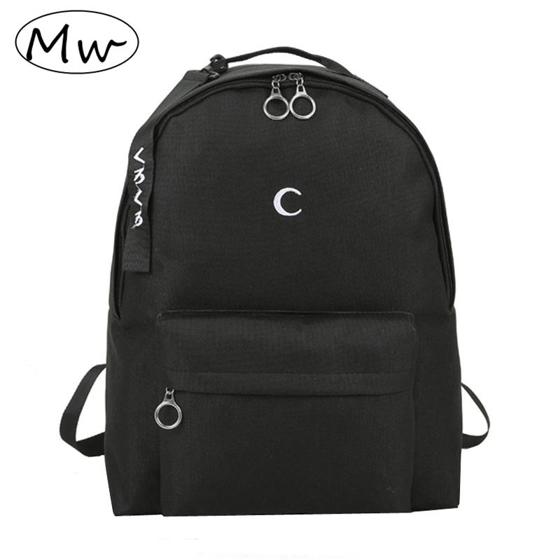 40039e891f Moon Wood Harajuku Men S Black Backpack Embroidery Moon Cross Backpack  School Bags For Teenagers Girls Boys Students Travel Bag Dakine Backpack  Best ...
