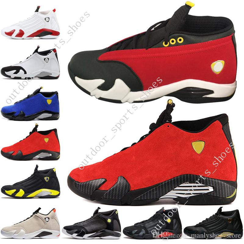 f3b5ece69e2b4d 2019 14 14s Mens Basketball Shoes Desert Sand DMP Last Shot Indiglo Thunder  Blue Red Suede Oxidized Green Black Toe Men Sports Sneakers Trainers From  ...