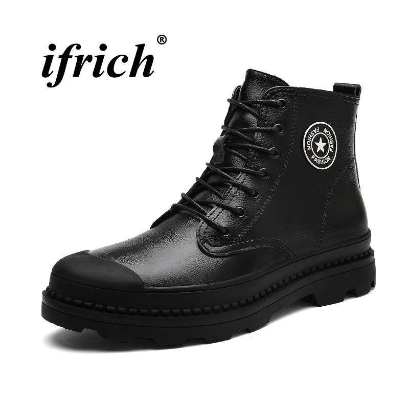 68803e67efb6c 2018 New Trend Working Safety Men Boots Hard Wearing Snow Men Shoes Winter  Fur Cowboy Boots For Mens Comfortable Combat Shoe Shops Cheap Shoes For  Women ...