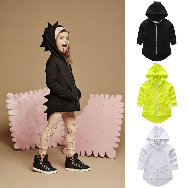 d70a8fdc17c6 Kids Boys Girls Dinosaur Coat Animals Jacket Coat Hoodies Outerwear ...
