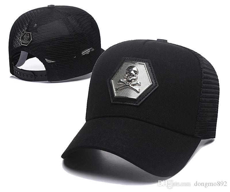 2315e18cb6e Metal Logo PP Skull Design Snapback Hats Men Fashion Baseball Caps ...