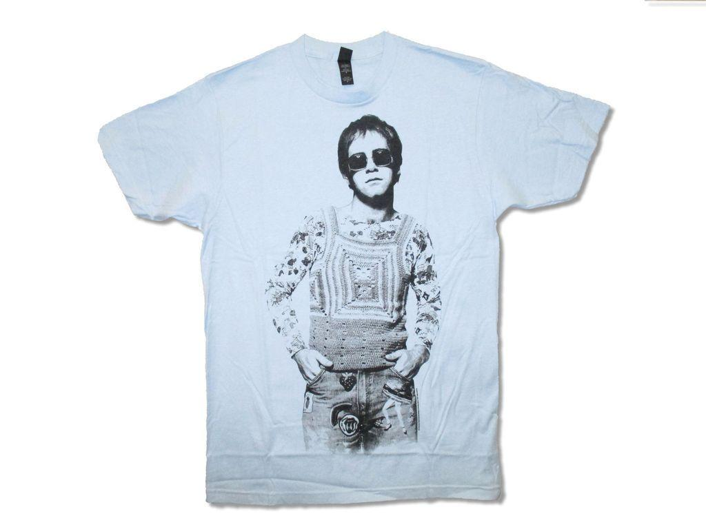 c4de2897 Elton John Noddy Image Light Blue Mens T Shirt Rock And Roll Singer Music  Piano Good Quality Brand Summer Style Cool Shirts Short Sleeve Shirts Cheap  Shirts ...