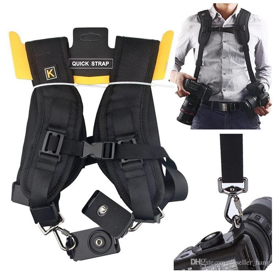SLR Quick sling belts Quick Rapid shoulders Double SLR Camera Strap Neck Shoulder Belt Strap DSLR camera shoulder strap for Nikon Canon Sony