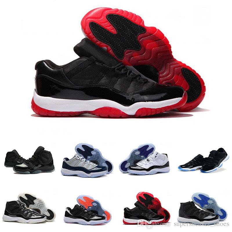 feb18581f7c14 Acheter Nike Air Jordan 11 Retro Space Jam Basketball shoes Wholesale Mode  Couleur Noir, Rouge, Bleu Et Blanc Respirant Chaussures De Haute Qualité  Hommes ...