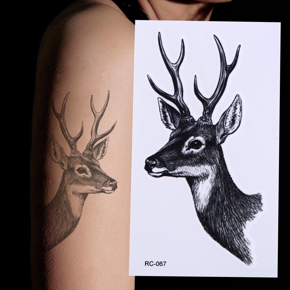 Acheter Imperméable à L Eau Elk Tête De Cerf Tatouage Bucks Corne