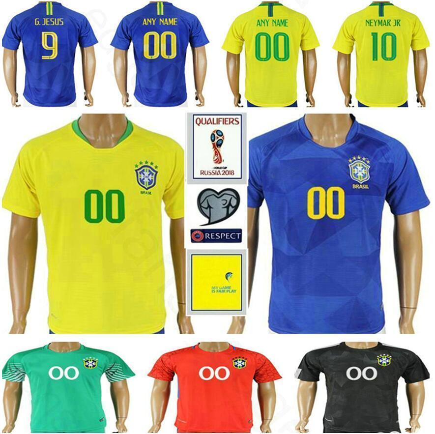 2019 2018 Brazil World Cup Jersey 10 NEYMARJR RONALDINHO PELE PAULINHO  WILLIAN JESUS RONALDO MARCELO COUTONHO Yellow Blue Soccer Football Shirt  From ... 2eb1815a3