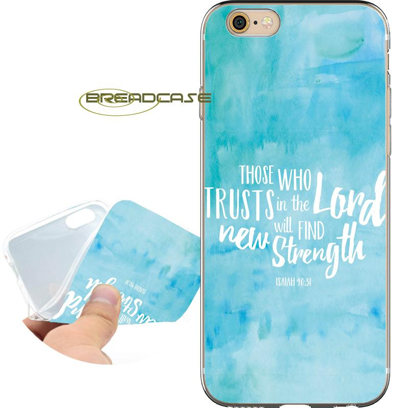 d686a5f2b00 Coque Bible Christian Quotes Cases For IPhone 10 X 7 8 6S 6 Plus 5S 5 SE 5C  4S 4 IPod Touch 6 5 Clear Soft TPU Silicone Cover.