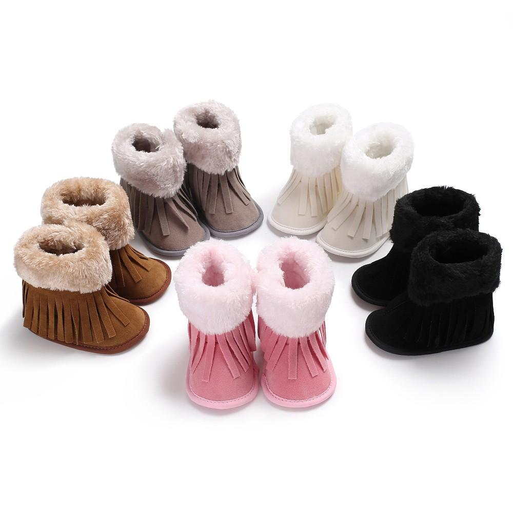 31f07d22e Warm Prewalker Boots Toddler Girl Boy Fur Boot Snow Crib Solid Shoes ...