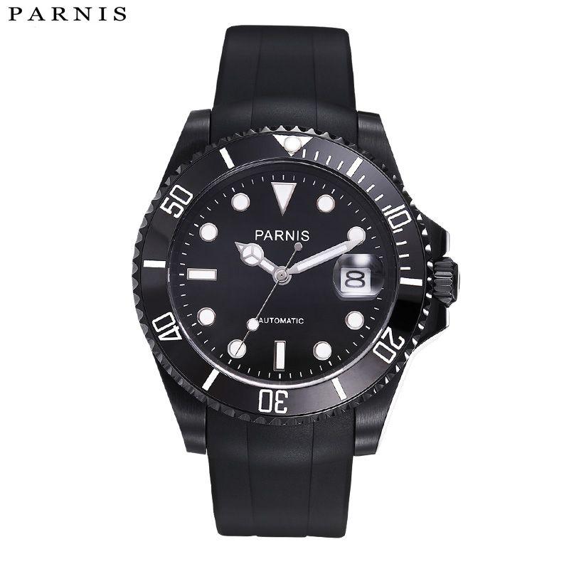 59dc1d306802 Compre 40mm Reloj Automático 10ATM Siwm Diver Reloj Mecánico A Prueba De  Agua Hombre Con Correa De Caucho Negro Bisel De Cerámica Xfcs A  164.88 Del  ...