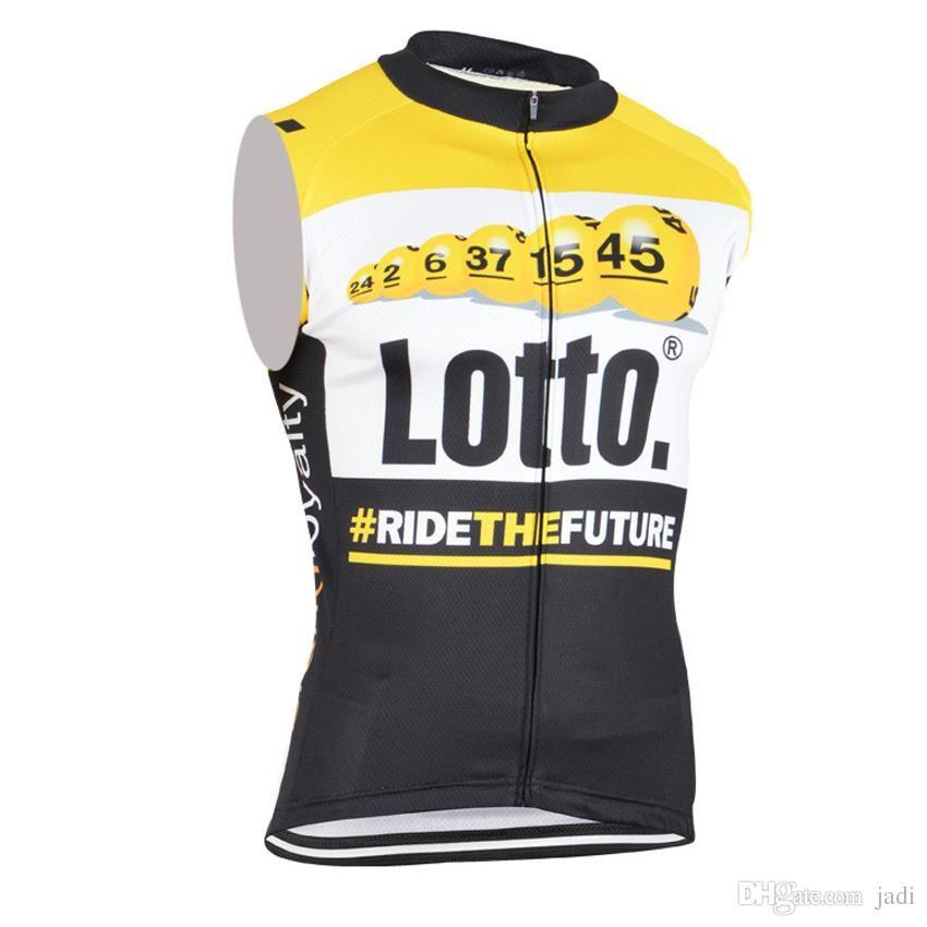 5e056a9f7 Hot 2017 LOTTO Cycling Jersey Sleeveless Summer Quick Dry Cycling ...