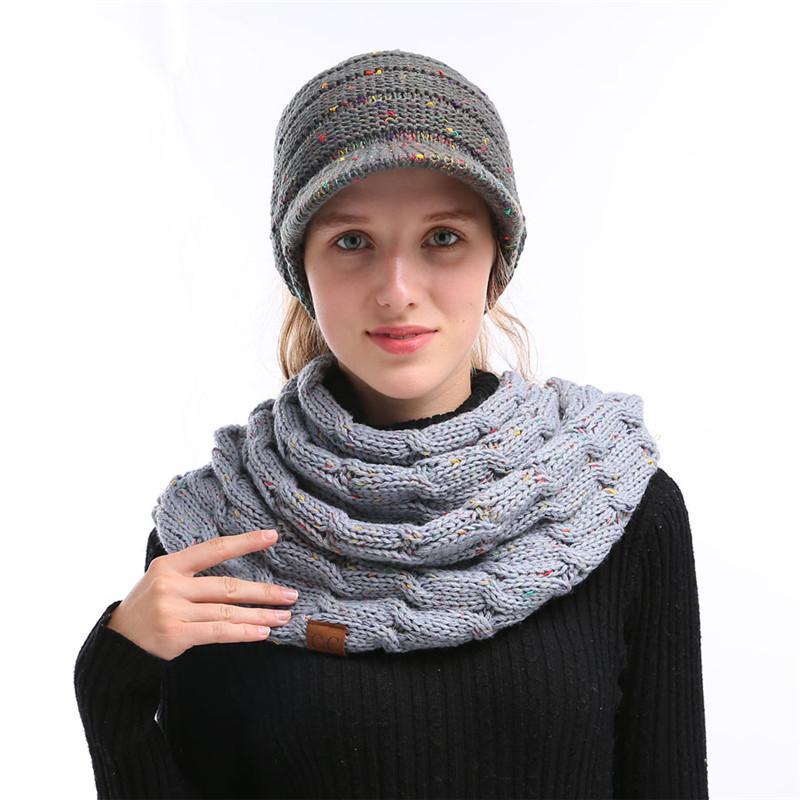 Großhandel Frauen Winter Cc Garn Strickender Schal Woolen Strickte ...