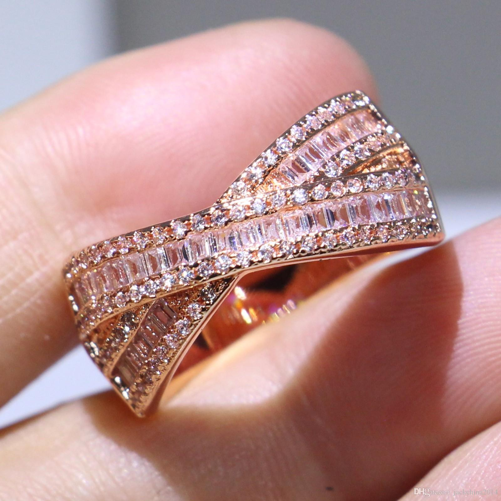 2018 Of Stock Stunning Luxury Jewelry 925 Sterling Silver&Rose Gold ...