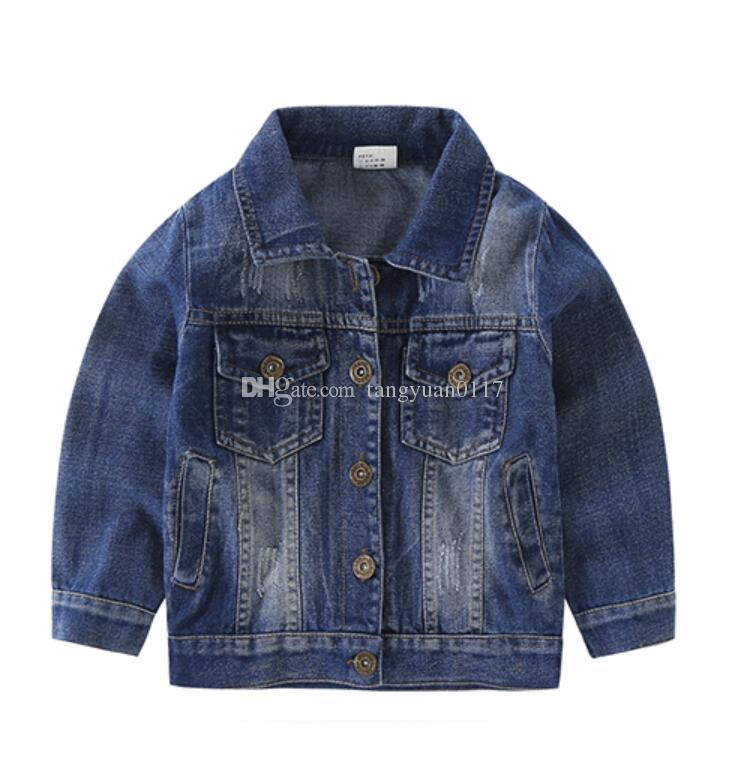 6e9c85eae7d8 Fashion Jean Jacket for Kids Toddler Boys Denim Coat 2018 New Arrive ...