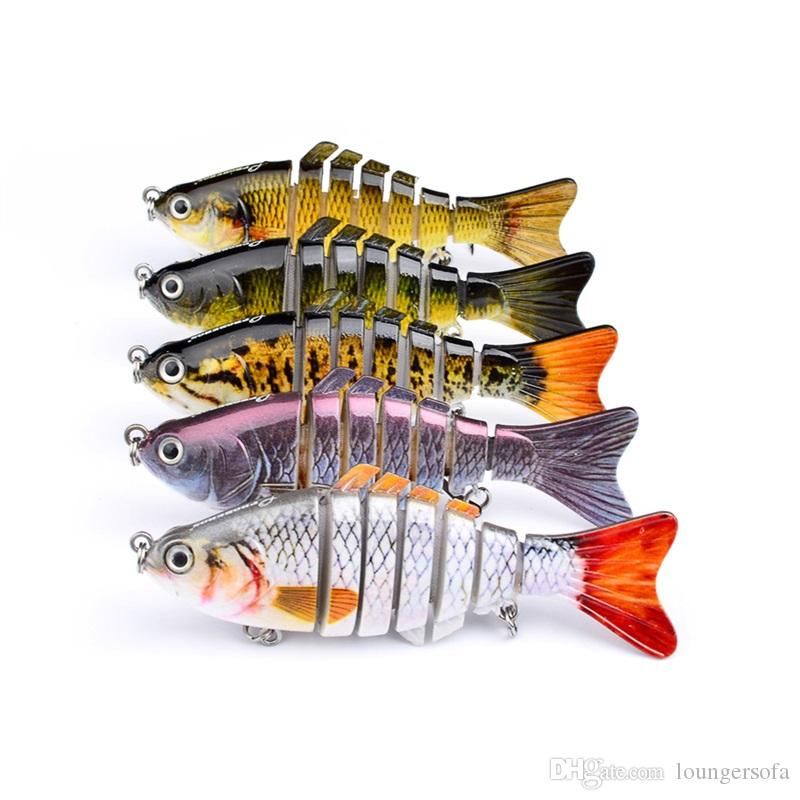 Classic Multi Section Fish 10cm Hard Plastic Lures Fishing Hooks 15g Fishhooks 3D Eyes Artificial Bait Tackle 10sb W