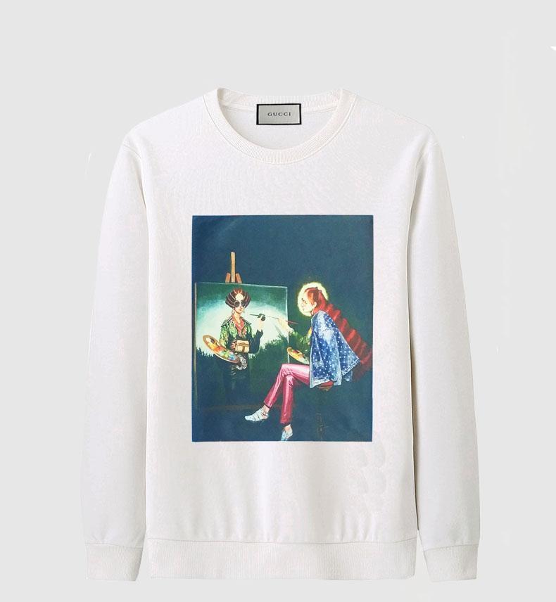 19fda5023bb Mens Crewneck Hoodies Sweatshirt Fashion Letter Print Pullover Sweatshirt  Men Casual Sportswear Black White Hip Hop Sweatshirts Plus Size Online with  ...