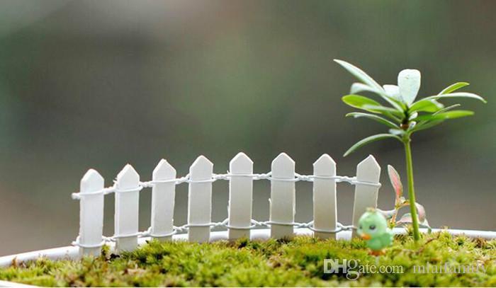 Mini valla Barrera pequeña Resina de madera Miniatura de hadas Decoraciones de jardín Vallas en miniatura para jardines Barritas minúsculas Venta caliente DHL gratis