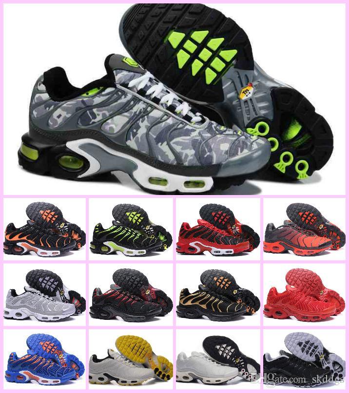 sports shoes 2d4ee 686a6 Großhandel 2019 Neue Chaussures Air Tn Plus Kaum Grau In Metallic Frauen  Herren Sport Designer Luxury Schuhe Für Männer Tns Turnschuhe Marke Trainer  Von ...