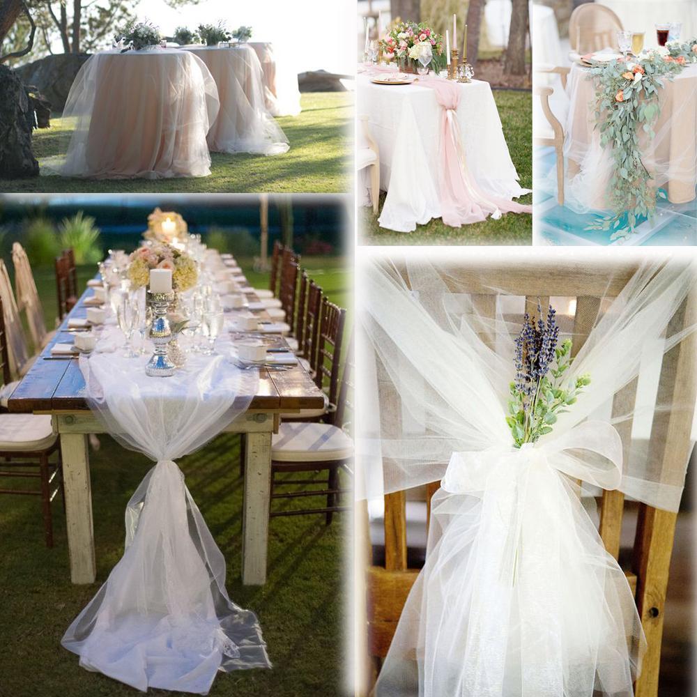 White 54 X45 Ft 15 Yards Tulle Bolt Wedding Decoration Bow Craft