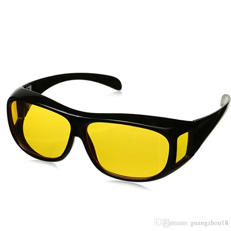 e58393f10e2 2018 Hd Night Vision Driving Sunglasses Yellow Lens Over Wrap Glasses Dark  Driving Protective Goggles Anti Glare Outdoor Eyewear From Guangzhou18