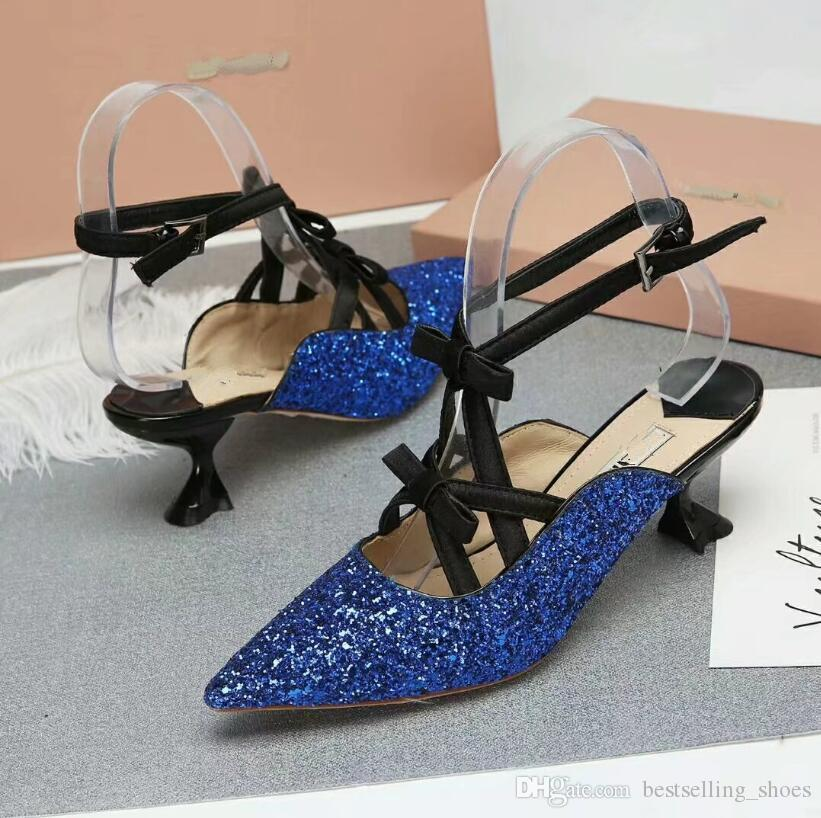 Glitter Genuine Leather High Top sandals Fashion Bride Wedding Shoes Sexy kitten Heel Sandals Prom Brand Shoes Woman Summer Sandals