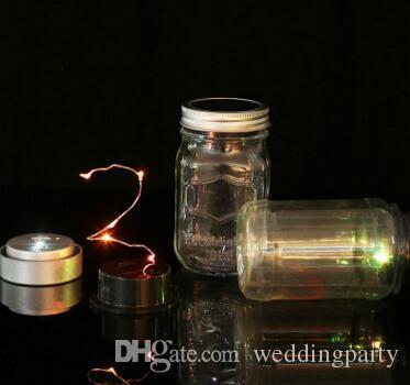 Color changing Silver Solar-powered Mason Jar Lids light up any mason jar not include jar DHL Fedex