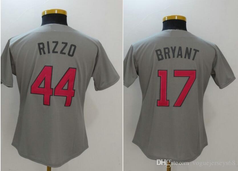 New Mother s Day Womens Chicago  17 B R Y A N T 44 Anthony Rizzo Stitched  Embroidery Baseball Uniforms Shirts Sports Team Discount Jerseys Baseball  Shirts ... 155078f4c
