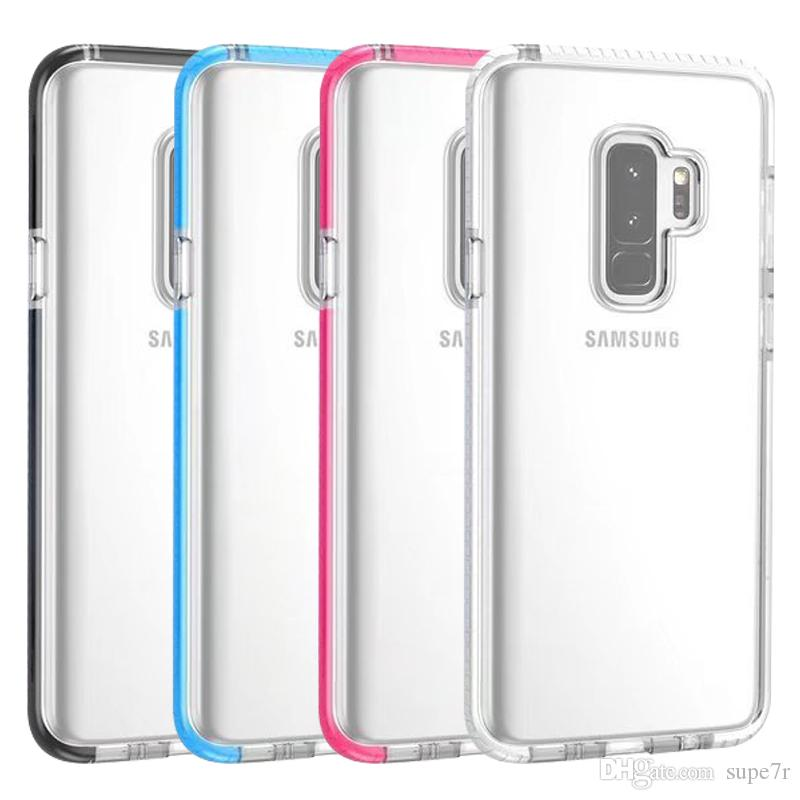 new styles 55080 7ccf3 TPU Bumper Phone Case For Samsung Galaxy S9 S8 Plus Note 8 iPhone x 8 Plus  Clear Transparent Case