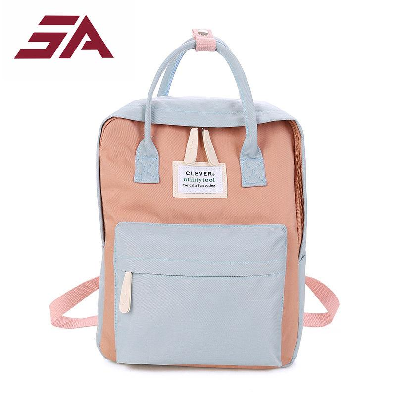 82598fa96ee3 Fashionable School Bags For Teenage Girs Canvas Backpack Female Backpack  Design Leisure Travel School Simple Personality Luggage Cool Backpacks  Travel ...