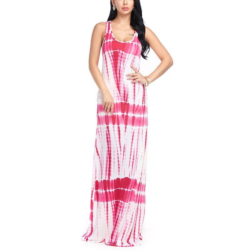 Compre Vestido De Playa De La Manera De Las Mujeres Summer Maxi Boho ...
