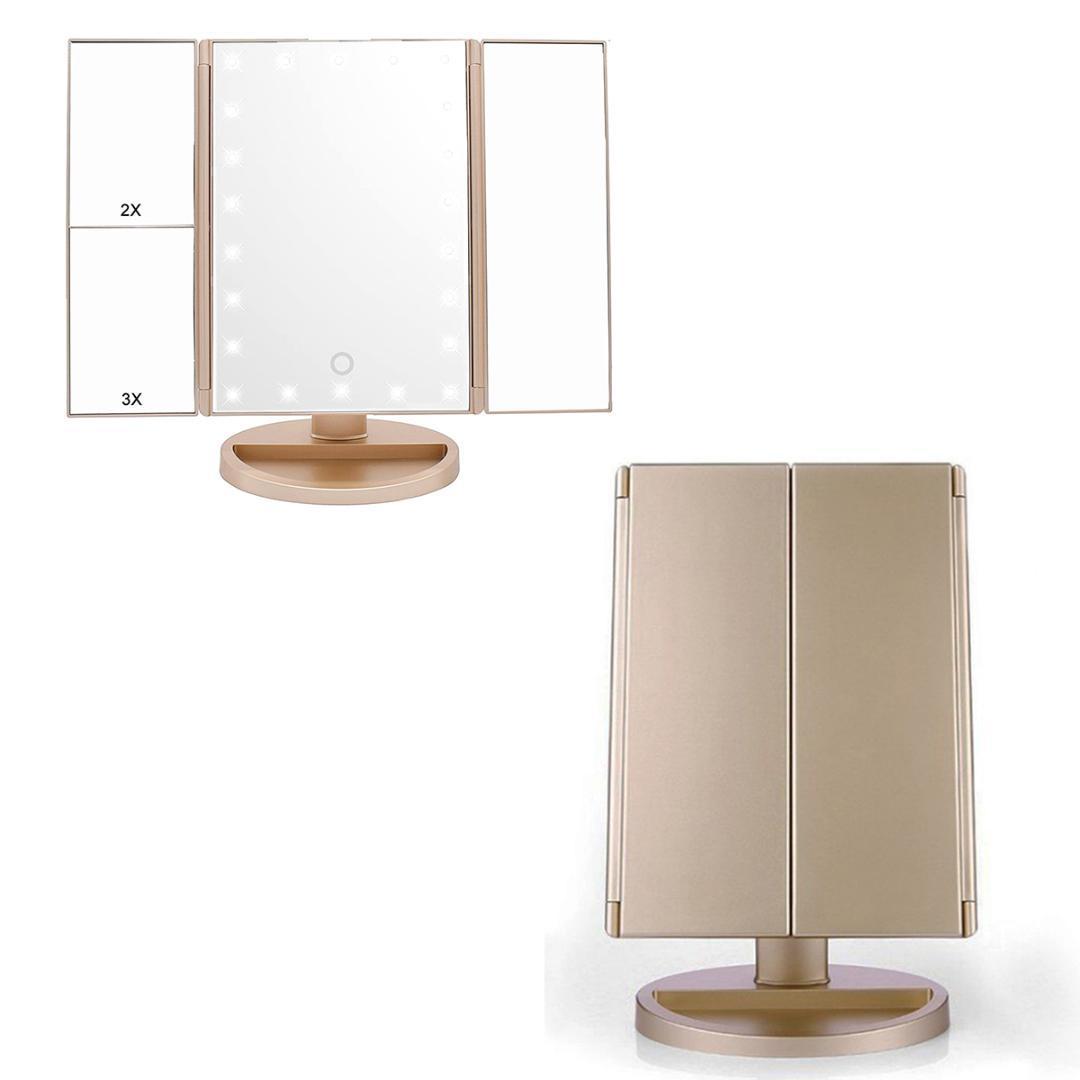 макияж зеркало освещенное тщеславие увеличительное зеркало макияж светодиоды увеличение три раза косметический Usb зарядки спальня
