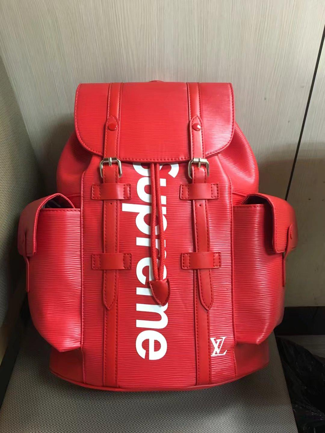 2019 Louis Vuitton X Supreme Women Red Leather Travel Bags Men Backpack Shoulder Messenger Michael 8 Kor Totes Purse Gg Clutch Lv From Lvbag8866