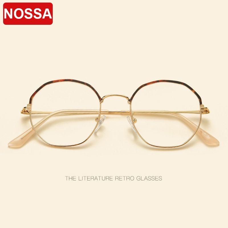 6c74675c2b849 Compre NOSSA Retro Personalidade Literária Polígono Espelho Plano New Metal  Tendência Óculos De Armação Homens E Mulheres Óculos Decorativos Quadro.