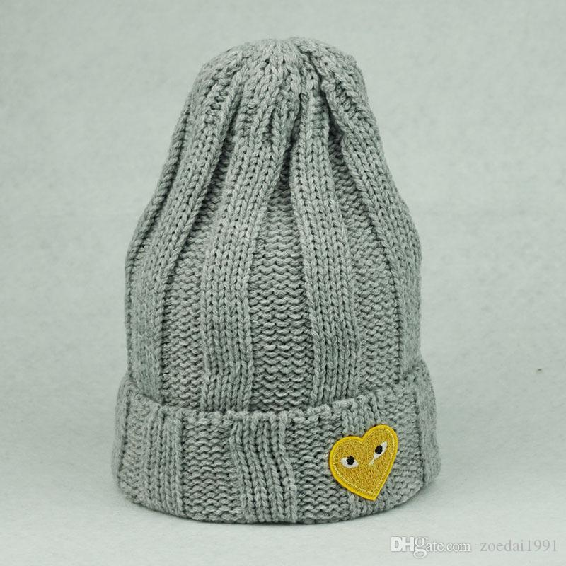 2019 Baby Winter Hats Hearts Eyes Applique Girl  S Wool Hat Knitted Cotton  Beanies Cap Brand Stocking Hat From Zoedai1991 8e79a6ee4bd