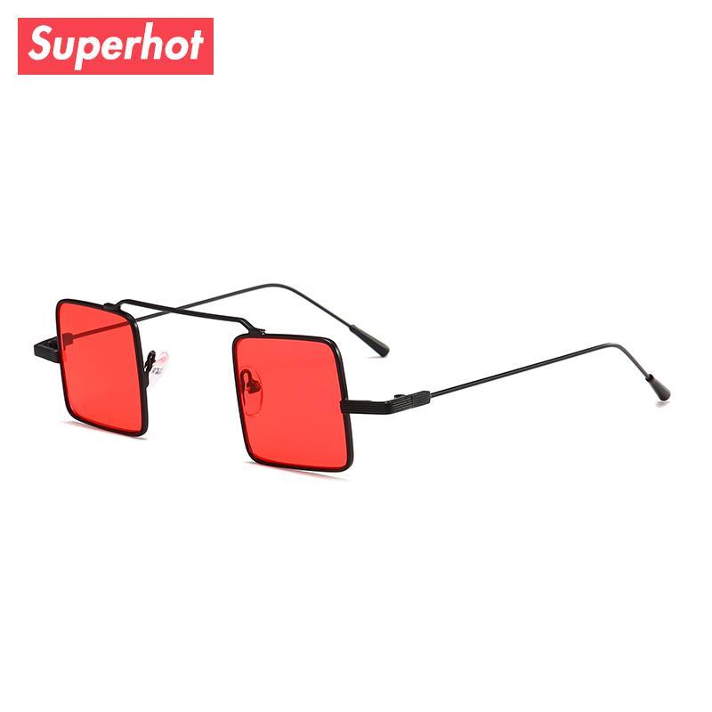 e6d5702c3285 Superhot Eyewear 2018 Small Square Sunglasses Men Women Metal Sun Glasses  Tinted Clear Lenses Vintage Shades 10629 Vintage Shades Square Sunglasses  Men ...